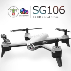 SG106 HD Drone 4K WiFi FPV Real Time Dual Camera Aerial Video Wide Optical Flow RC Quadcopter Helicopter Toys