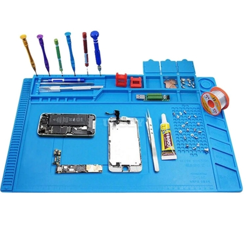 Kaisi S-160 45x30cm Silicone Desk Pad for Soldering Station Iron Computer PC Platform Repair Mat Magnetic Heat Insulation
