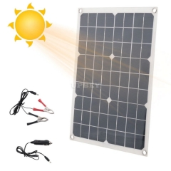 Solar Panel 12V 20W USB with Car Charger for Outdoor Camping Mountain Emergency SP01 Light Mono Crystalline Waterproof