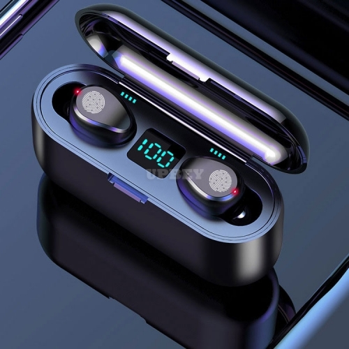 AMOI F9 Wireless Earphone Bluetooth V5.0 TWS Headphone LED Display With 2000mAh Power Bank Headset With Microphone