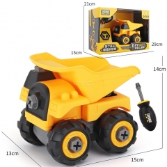 Children Take Apart Construction Educational DIY Engineering Vehicle Toys Gifts for Kids Dump truck