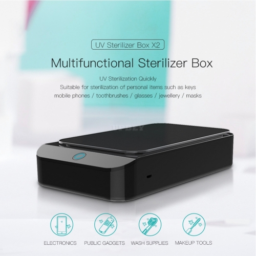 Sterilizer Box UV Disinfection Box Pedicure Manicure Box Boxes Sterilizing Steel Metal Nipper Equipment Cleaner Tools black