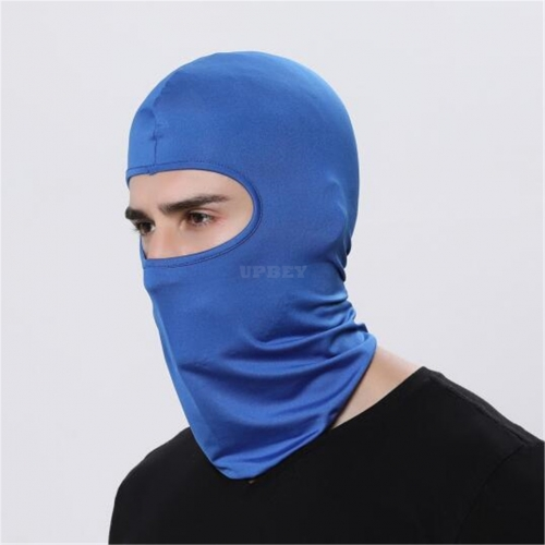 Outdoor Ski Motorcycle Cycling Balaclava Full Face Mask Neck Cover Ultra Thin  sapphire blue_adjustable