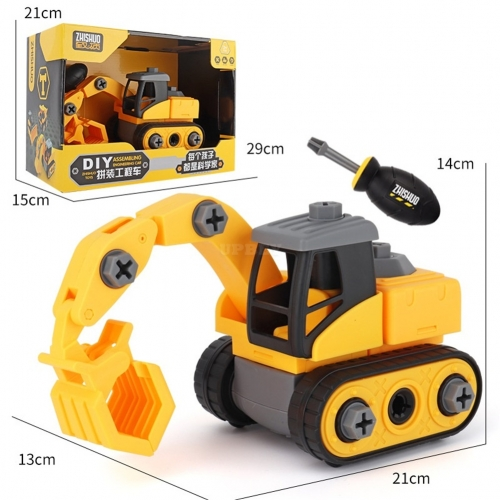 Children Take Apart Construction Educational DIY Engineering Vehicle Toys Gifts for Kids Grab truck
