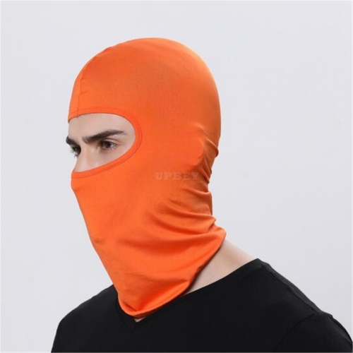 Outdoor Ski Motorcycle Cycling Balaclava Full Face Mask Neck Cover Ultra Thin orange_adjustable