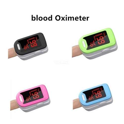 Infrared Ear Forehead Temperature Electronic Thermometer Finger Clip Pulse Oximeter Wrist Blood Pressure Device Blood Oximeter_blue
