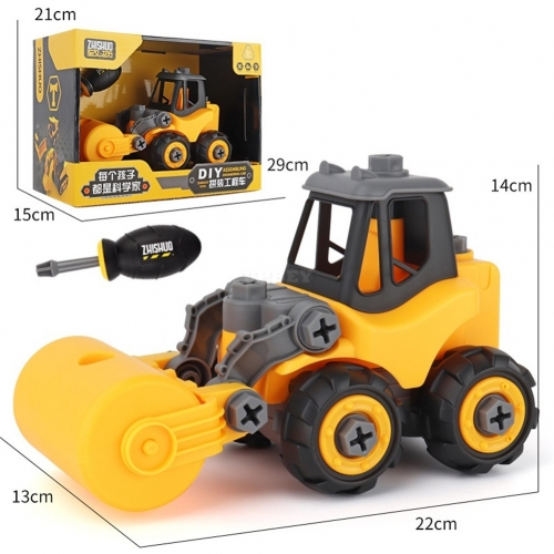 Children Take Apart Construction Educational DIY Engineering Vehicle Toys Gifts for Kids Road car