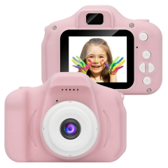 Kids Digital Video Camera Mini Rechargeable Children Camera Shockproof 8MP HD Toddler Cameras Child Camcorder  Pink