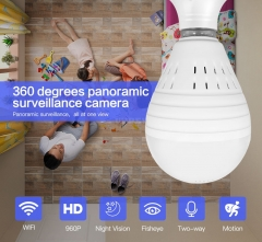 Bulb Lamp Wireless IP Camera Wifi 960P Panoramic FishEye Home Security CCTV Camera 360 Degree Night Vision Camera
