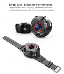 Wearable and Detachable Smart Sports Camera - 1080P, APP, Wifi, Magnetic Base, Waterproof, Car DVR, Hunting Camera
