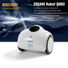 ESCAM QN02 WiFi Robot Camera - Wi-Fi, iOS + Android ,Smartphone App, 720P, 2 Way Audio, 4400mA Battery
