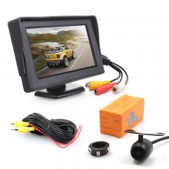 Rear View Parking Camera - 4.3-Inch LCD Display, IP68 Waterproof, CMOS Sensor, 130-Degree Lens, For Truck, Car, Bus