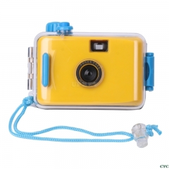 Underwater Waterproof Camera Mini Cute 35mm Film with Housing Case yellow