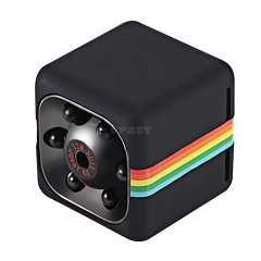 1080p Mini Camera - 120-Degree Lens, Night Vision, CMOS Sensor, 32GB SD Card Support, Motion Detection, 200mAh (Black)