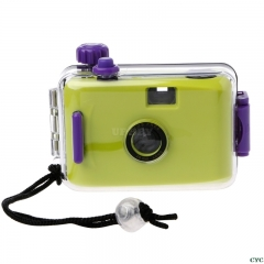 Underwater Waterproof Camera Mini Cute 35mm Film with Housing Case green