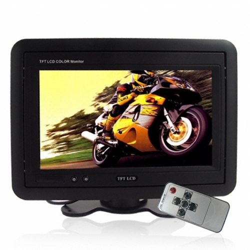 Headrest/Stand In-Car TFT LCD Monitor- 7 Inch Reversing Rear View Display -Black black