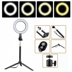 14.5cm Dimmable LED Ring Light Selfie Light Lamp Photo Camera Live Fill-in Light