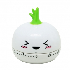 Kitchen Vegetable/Fruit Shape Timer Cute Cooking Mechanical Home Decor white