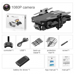 2020 LS-MIN New Mini Drone 1080P 4K HD Camera WiFi Fpv Air Pressure Altitude Hold Black And Gray Foldable Quadcopter RC Drone Toy RTF
