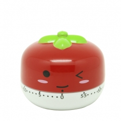 Kitchen Vegetable/Fruit Shape Timer Cute Cooking Mechanical Home Decor red