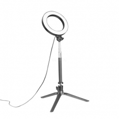 Dimmable LED Studio Camera Ring Light Photo Phone Video Annular Lamp