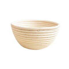 20X8CM Baking Basket Round Shape Rattan Banneton Basket Bread Dough Proving Brotform Bowl Round