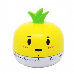 Kitchen Vegetable/Fruit Shape Timer Cute Cooking Mechanical Home Decor yellow