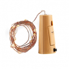 2M 20LED String Lights For Glass Wine Bottle, Copper Wire Fairy Lamp with Cork Shaped Bottle Stopper