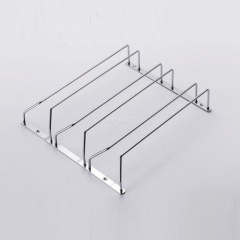 1 Pcs 1-5 Rows Stainless Steel Wall Mount Stemware Wine Glass Hanging Rack Holder Shelf 3 row with screws