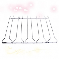 1 Pcs 1-5 Rows Stainless Steel Wall Mount Stemware Wine Glass Hanging Rack Holder Shelf 5 Row with screws