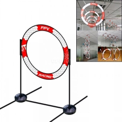 LDARC Round RC Drone FPV Racing Gate Flying Crossing Door 780mm With Base Red and white
