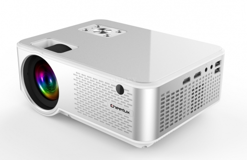 FULL HD 720P Portable LED Mini Projector LCD Video Home Theater Projector Silver white