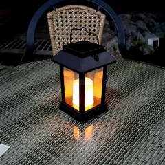 Solar Lantern - 15 Lumen, IP44 Rating, 600mAh Battery, Candle Effect, Intelligent Light Control, Amorphous Silicon Solar Panel