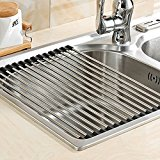Foldable Stainless Steel Drying Rack Detachable Draining Rack for Kitchen