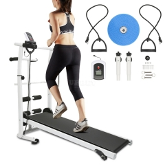 M9 New 3 In 1 Household Mechanical Treadmill With LCD Display Low Noise Walking Machine Foldable Home Trainer Fitness Equipment