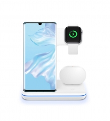 Z5 Split 3 in 1 Multi-function Fast Wireless Charger for Mobile Phone Headset Smart Watch Wireless Charger white