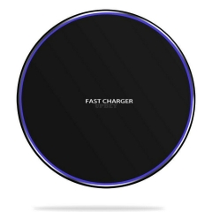 Qi Wireless Charger Fast Charging Pad for iPhone 8 X XS XR Samsung Galaxy S7 S8 S9 S10 black