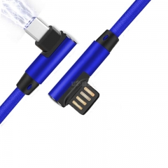 0.25M USB Type C Micro 90 Degree Cable for Type C Mobile Phone blue