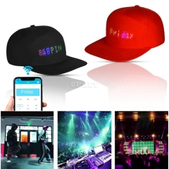 Smart LED Cap Screen Display Effects Pattern Mobile Phone APP Controlled Caps Party Club Baseball Sports Hat