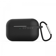 Silicone Case for AirPods Pro Travel Earphone Storage Bag Smooth Surface Dustproof Overall Protection Headset Cover black