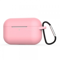 Silicone Case for AirPods Pro Travel Earphone Storage Bag Smooth Surface Dustproof Overall Protection Headset Cover pink