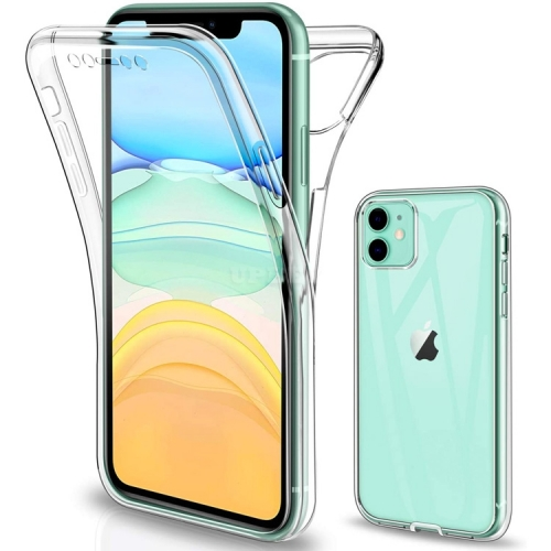 Cover Case TPU Full Protect Clear Front + Back for Apple iPhone 11 / 11 Pro / 11 Pro Max / SE 2020 / X-XS / XS Max / XR / 7-8 / 7-8 Plus / 6-6S / 6-6S