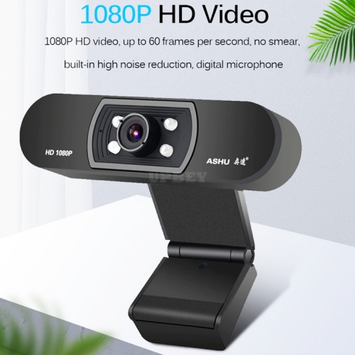 H800 HD Web Camera 1080P Built-in HD Microphone 1080p Webcam USB Plug & Play Widescreen 5 Layer Optical Lens USB Night Vision