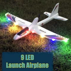 Flying LED Airplanes USB Charging Luminous Electric Hand Throwing Glider Soft Foam Coloured Lights Launch Toy for Children Gift Kids Fun