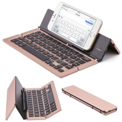 Mini Bluetooth Folding Keyboard Three-System Smartphone Tablet Computer Aluminum Alloy Wireless tri-fold for IOS Android Windows
