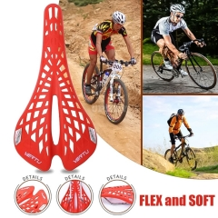 Carbon Seat Mountain Bike Road Bicycle Plastic Saddle Racing Riding Saddle Cycling Equipment Parts Fiber Hollow