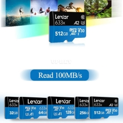 Memory Card Micro SD Lexar 633X New Original A1 A2 32gb 64gb 128gb 256gb 512gb 1TB SDXC SDHC Uhs-1 For Drone Camera Smartphone Switch
