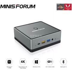 MINIS FORUM UM700 AMD Ryzen 7 3750H Windows 10 Pro MINI PC DDR4 8GB RAM 256GB SSD WIFI 6 BT 5.1 Game Computer 2.5 Inch SATA HDD