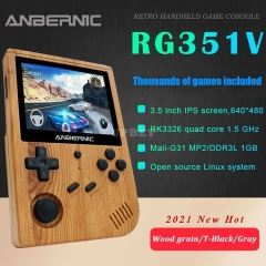 ANBERNIC New RG351V Retro Games RK3326 Open Source 3.5 INCH 640*480 Handheld Game Console Emulator For PS1 DC GBA PSP MD NeoGeo