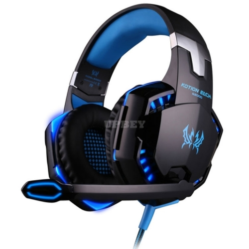 Cool Gaming 3.5mm Headset Mic LED Stereo Surround Headphones for PS3 PS4 PS5 Xbox Series S / X ONE 360 Blue Orange Black